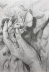 Hand och fjäril